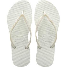 havaianas Slim Sandalias Mujer, white